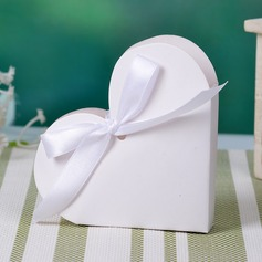 Heart-shaped Favor Boxes With Ribbons