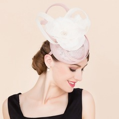 Ladies' Fancy Cambric With Silk Flower Fascinators