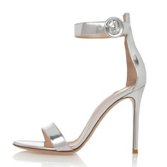 Women's Patent Leather Stiletto Heel Sandals shoes (087086321)