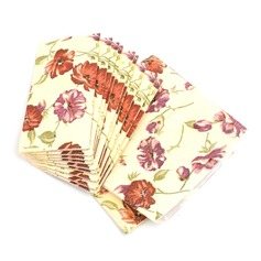 Lovely Rose Pattern Dinner Napkins