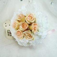 Comely Round Artificial Silk Bridal Bouquets