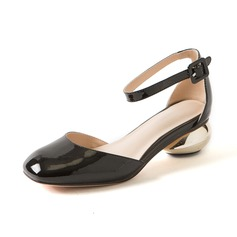 Women's Real Leather Low Heel Pumps Closed Toe shoes