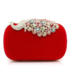 Gorgeous Velluto con Strass/Animale Pochette