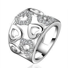 Fashional Copper/Zircon/Silver Plated Ladies' Rings