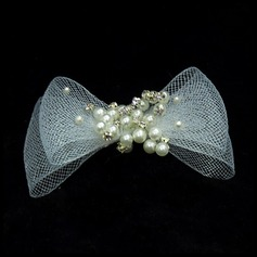 Fashion Pearl/Tulle Barrettes