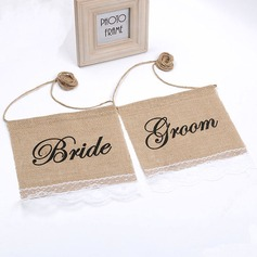 Bride and Groom Lace/Linen Runner