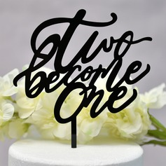 Mr. & Mrs. Acrylic Cake Topper (Sold in a single piece)