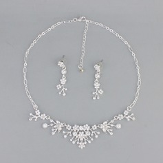 Nice Alloy With Rhinestone Jewelry Sets (Set of 2)