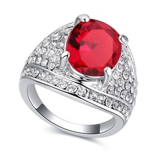 Exquisite Alloy/Glass With Crystal Rings