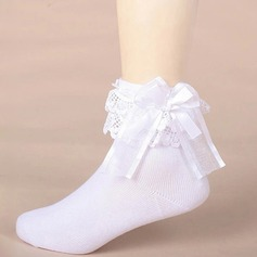 Girl's With Bowknot Stitching Lace