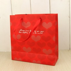 Heart style Cuboid Favor Bags With Ribbons