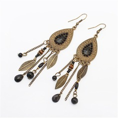 Fashional Alloy Resin With Resin Ladies' Fashion Earrings