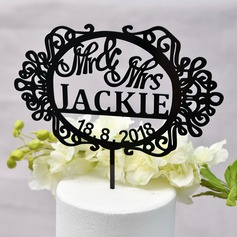 Personalized Sweet Love/Mr. & Mrs. Acrylic Cake Topper (Sold in a single piece)