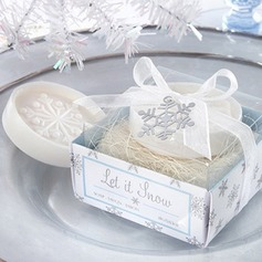 Snowflake Soaps With Ribbons