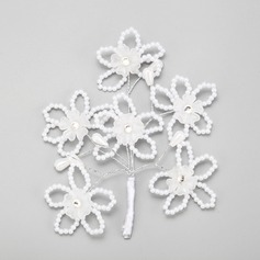 Flower Shaped Alloy/Imitation Pearls Hairpins