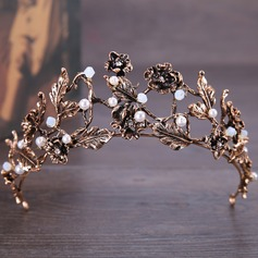 Beautiful Alloy Tiaras With Venetian Pearl