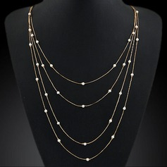 Beautiful Alloy With Imitation Pearl Ladies' Fashion Necklace