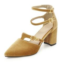 Donna Camoscio Tacco a spillo Stiletto con Fibbia scarpe