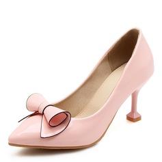 Donna Similpelle Tacco a spillo Stiletto con Bowknot scarpe