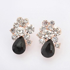 Unique Alloy With Rhinestone Glasses Ladies' Fashion Earrings
