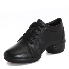Mulheres Couro verdadeiro Tênnis Moderno Jazz Ténis Sapatos de dança