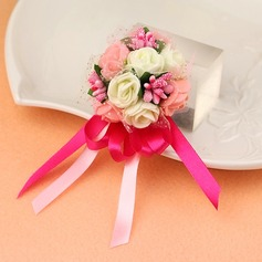 Girly Fabric Wrist Corsage -