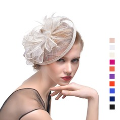 Ladies' Beautiful Cambric With Feather Fascinators