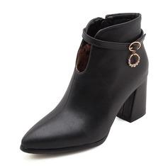 Vrouwen Kunstleer Stiletto Heel Pumps Closed Toe Laarzen Enkel Laarzen met Gesp schoenen