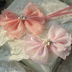 Bow Tie Ribbon/Lace Wrist Corsage