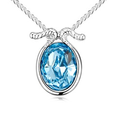 """""""Capricorn"""" Alloy/Crystal/Platinum Plated Ladies' Necklaces"""