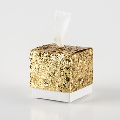 Creative/Classic Cubic paper/sequin Favor Boxes