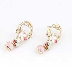 Gorgeous Alloy Coloured Glaze With Czech Stones Ladies' Fashion Earrings
