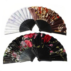 Floral Design Plastic/Fabric Hand fan