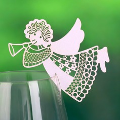 Angel Design Pearl Paper Place Cards