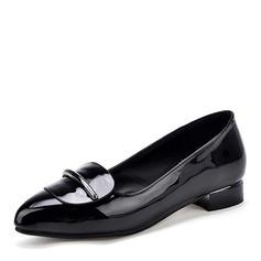 De mujer Cuero Piel brillante Tacón plano Planos zapatos
