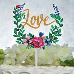 Colorful Acrylic Cake Topper(Sold in a single piece)