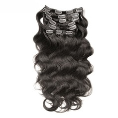 4A Non remy Body Human Hair Clip in Hair Extensions 7pcs 100g