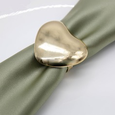 Heart Cut-out Alloy Napkin Rings