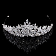 Ladies Glamourous Zircon Tiaras With Cubic Zirconia (Sold in single piece)