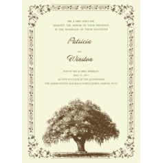 Glowing Tree Wedding Cards