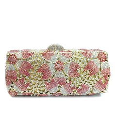 Delicate Crystal/ Rhinestone/Gold Plated Clutches/Bridal Purse/Luxury Clutches