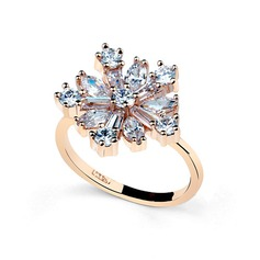 Snowflakes Shaped Alloy/Cubic Zirconia Women's Rings
