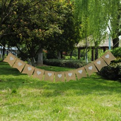 Heart Design Burlap Photo Booth Props/Banner