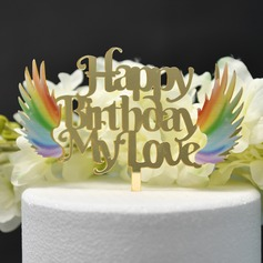 Happy Birthday Acrylic Cake Topper (Sold in a single piece)