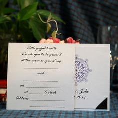 Personalized Heart Style Wrap & Pocket Invitation Cards