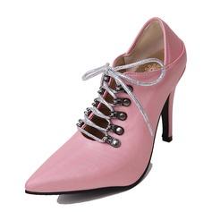 Donna Similpelle Tacco a spillo Stiletto con Allacciato scarpe