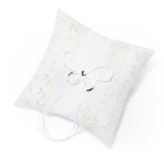 """The Spring Flora"" Ring Pillow With Lace"