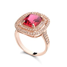 Charming Alloy With Rhinestone/Cubic Zirconia Ladies' Rings