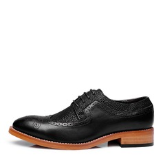 Maschile Pelle Microfibra Brogue Casuale Oxford da uomo