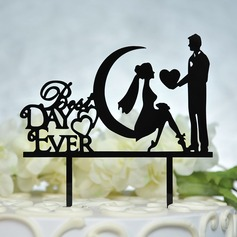 Mr & Mrs Acryl Taarttoppers
